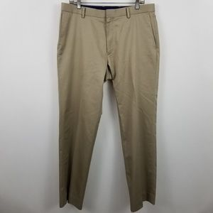 Banana Republic Non Iron Slim Fit Beige Flat Front